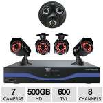 Click to view: Night Owl 8 Channel 7 Camera 960H 600TVL DVR Security System - 500GB HDD, 4x Bullet Cams/1x 3-in-1 Dome Cams, HDMI Ouptut, Free Pro App, PC/Mac - B-L85-4624-3DM!